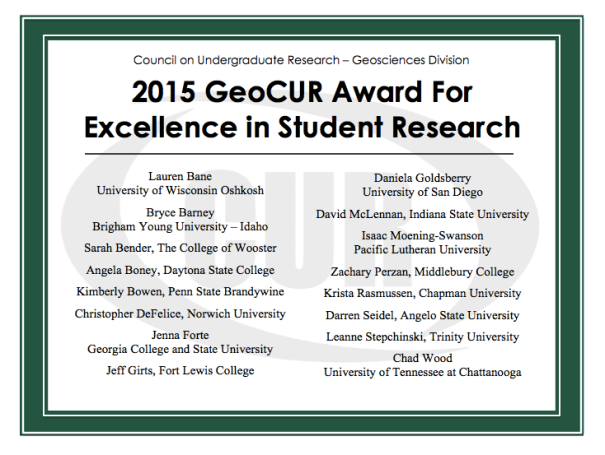 2015geocurstudentawardees